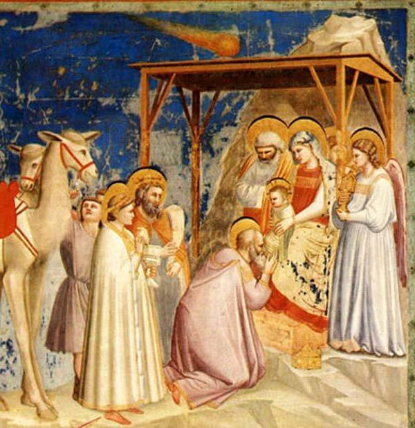 ADORACION DE LOS REYES MAGOS. Fresco de Giotto di Bondone. LA GACETA/ARCHIVO