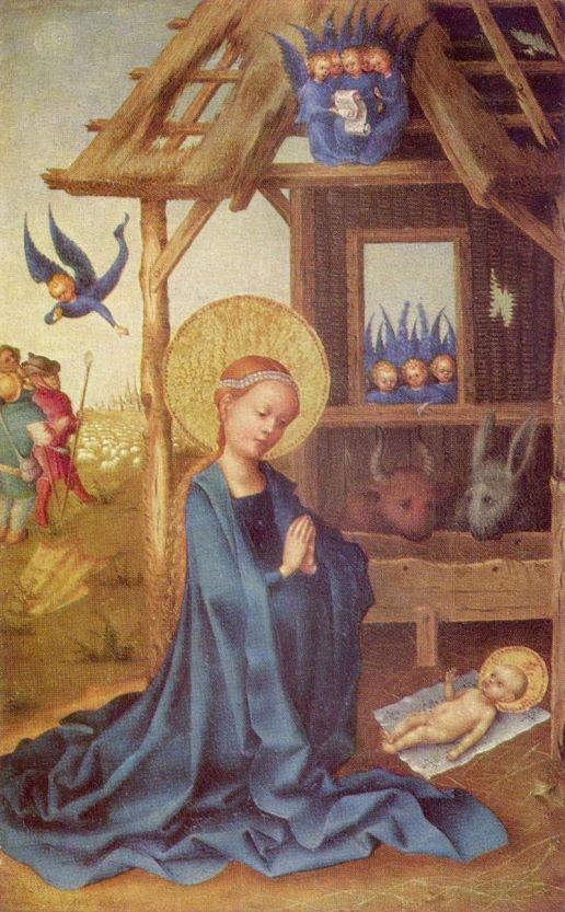 Stefan Lochner 005 - Adoracja Dzieciątka (obraz Lochnera