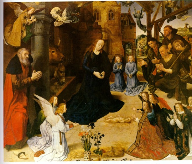HUGO VAN DER GOES. Retable Portinari, v.1475, huile sur bois, Florence, Musée des Offices