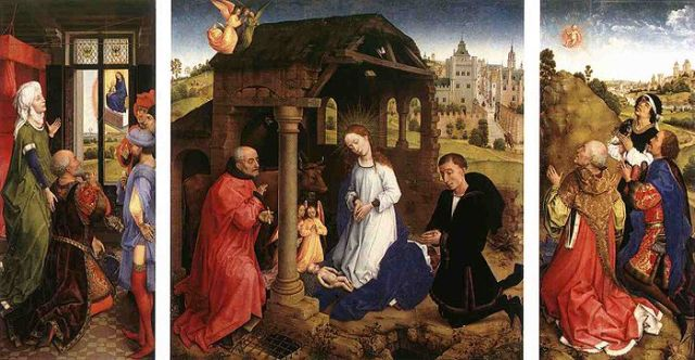 Rogier van der Weyden _Ołtarz Bladelin ok. 1445-1450 – Gemäldegalerie, Berlin_Weyden_Bladelin_Triptych