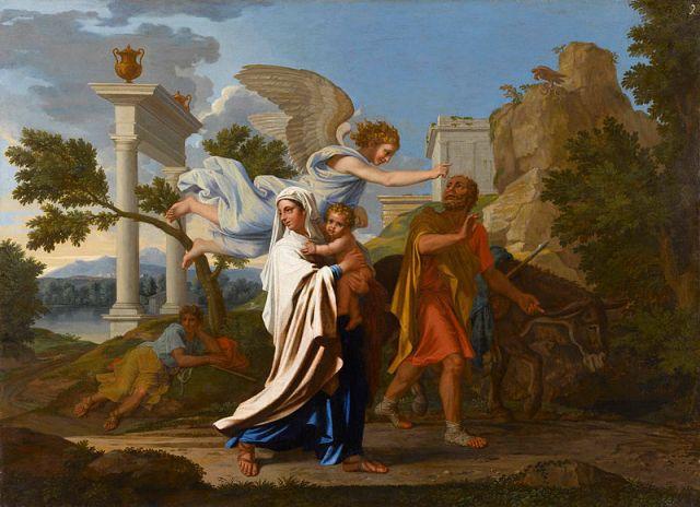 Ucieczka do Egiptu, 1657-58_Poussin--MBA-Lyon_pl.wikipedia.org