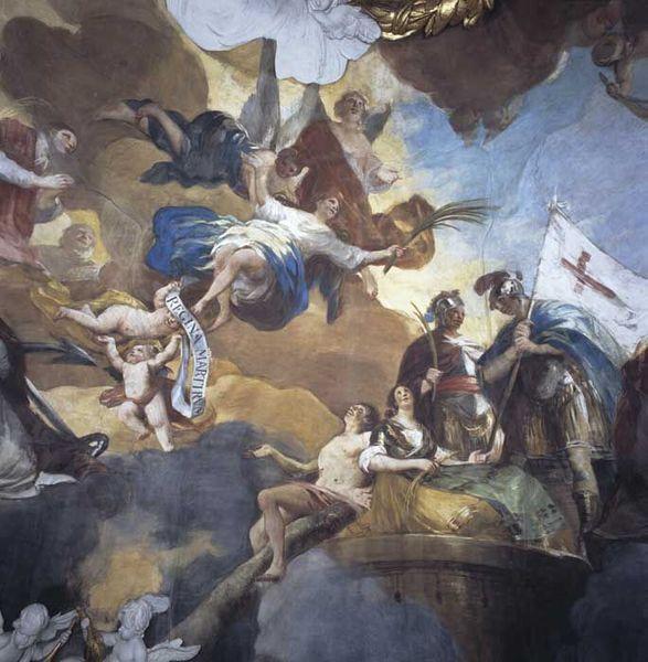 Fragment fresku Królowej Męczenników na kopule - Francisco Goya_en.wikipedia.org