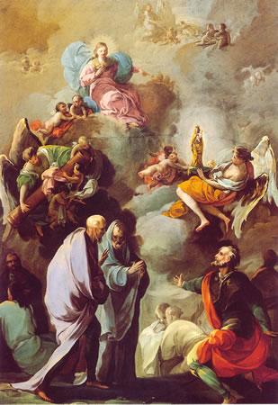 Malarstwo Goi przedstawiający objawienia maryjne w St Jakuba Większego_en.wikipedia.org