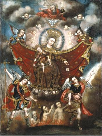 Królowa Niebios - Wybawicielka dusz czyścowych_Relief_www.traditioninaction.org