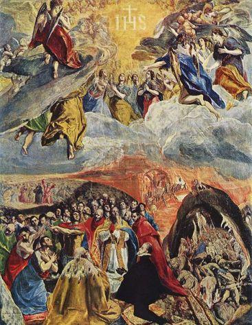 Adoracja świętego Imienia Jezus El Greco_pl.wikipedia.org