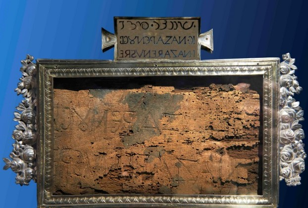 Titulus Damnationis Jezusa Chrystusa przechowywany jest w Bazylice Świętego Krzyża w Jerozolimie_ fot. Janusz Rosikoń_fronda.pl