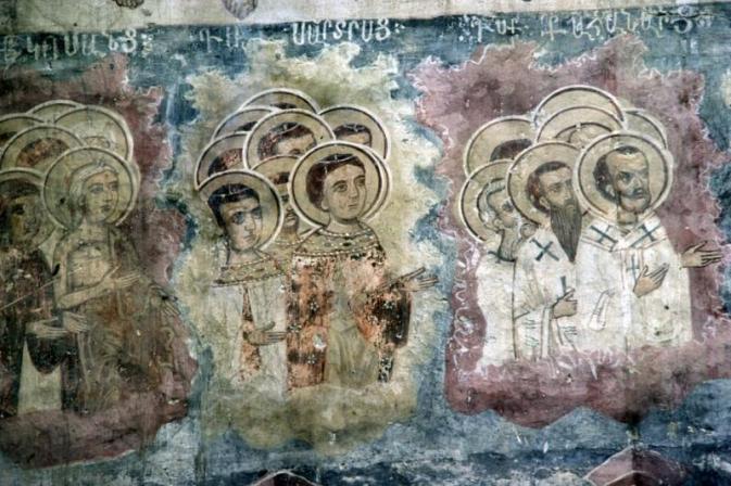 Orszak świętych. Monaster Kaymakli. Turcja_pl.wikipedia.org