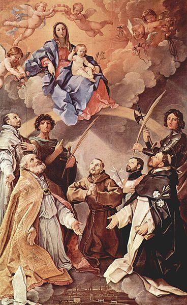 Koronacja NMP_Madonna Tronująca ze świętymi (1631-32)_Guido_Reni_upload.wikimedia.org-368px-