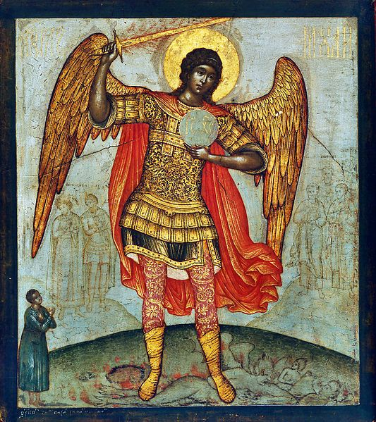 533px-Simon_Ushakov_Archangel_Mikhail_and_Devil