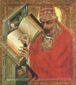 św. Grzegorz I - Mistrz Teodoryk, tempera na desce, ok. 1370 r._pl.wikipedia.org