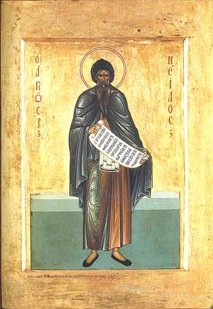 Saint Nilus of Sinai (russian Old Believers icon)