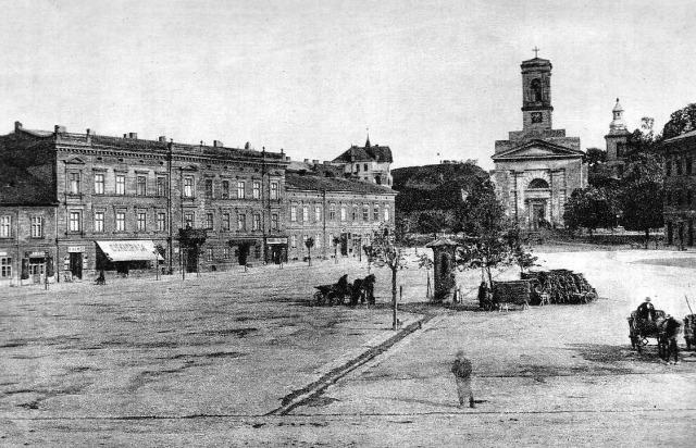 Kościół św. Józefa pod koniec XIX wieku- Rynek_Podgorski_upload.wikimedia.org