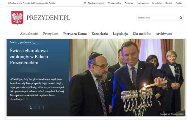 'Oficjalna strona Prezydenta Rzeczypospolitej Polskiej' - www_prezydent_pl-20151209-Chanukah