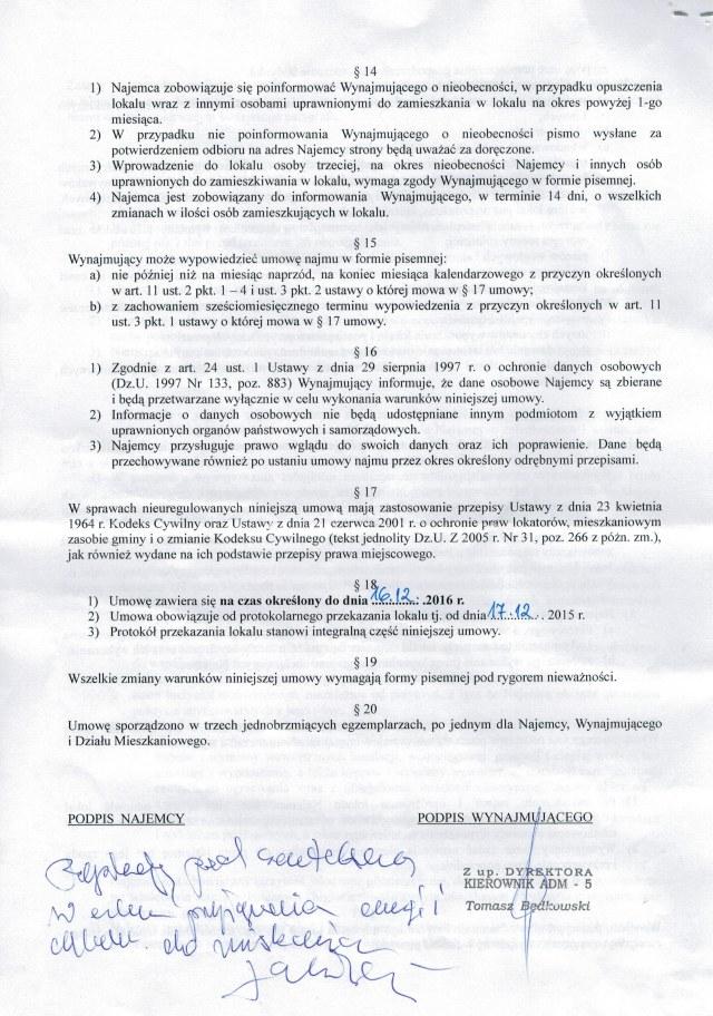Umowa najmu 2
