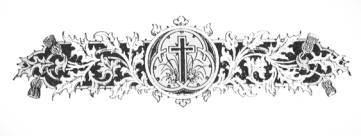 Krzyż w liściach