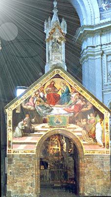 Porcjunkula, Asyż Włochy - Prośba św. Franciszka_upload.wikimedia.org