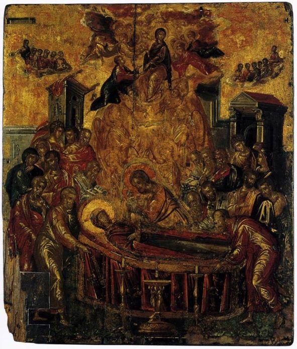 Zaśnięcie-Dormition_Ikona autorstwa El Greco_upload.wikimedia.org