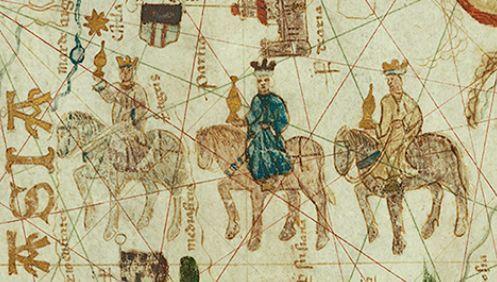 Mapa pochodzi z około 1500 roku i przedstawia trasę podróży trzech Króli.